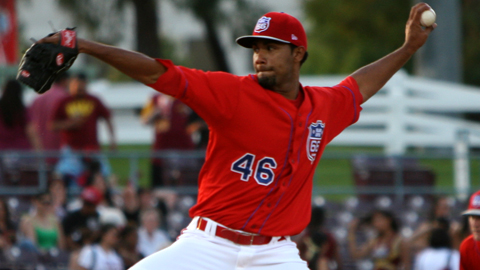 Manuel Flores got his seventh win Thursday night, tops in the California League Southern Division