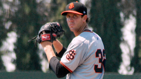 Taylor Rogers leads the California League with 25 starts in 2012.